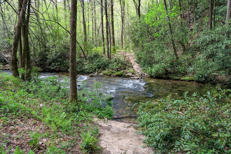 Bradley Creek Trail @ Ford #1 (SB)/#14 (NB) -- 2,610'