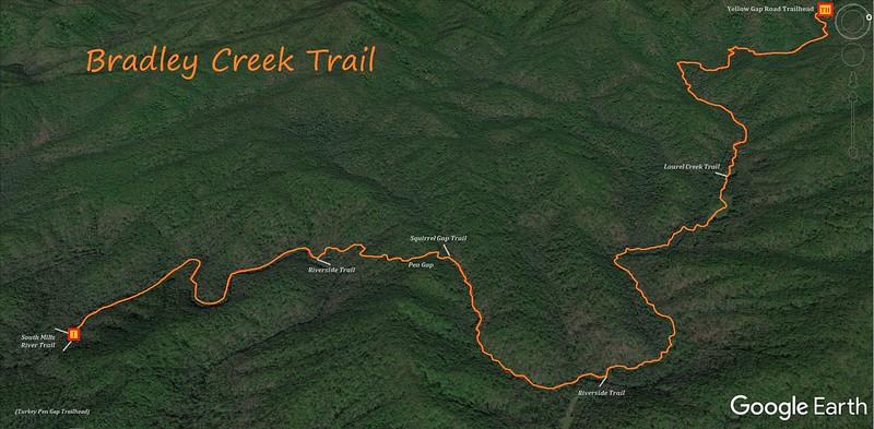 Bradley Creek Trail Map