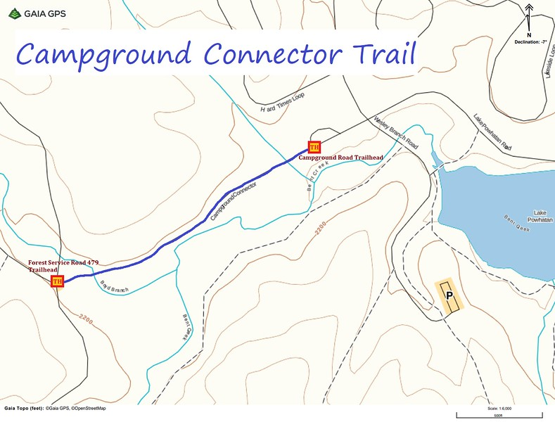 Campground Connector Trail Map