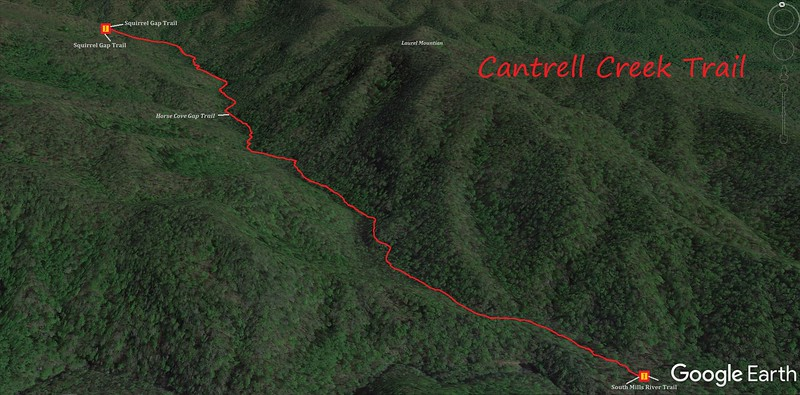Cantrell Creek Trail Map