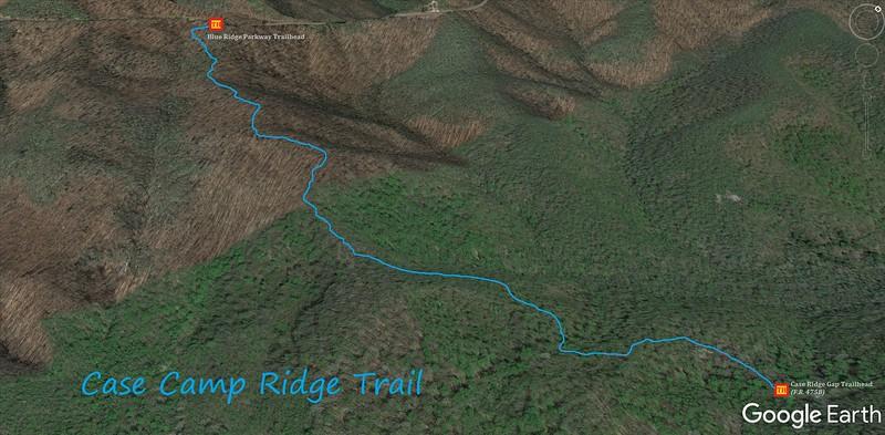 Case Camp Ridge Trail Map