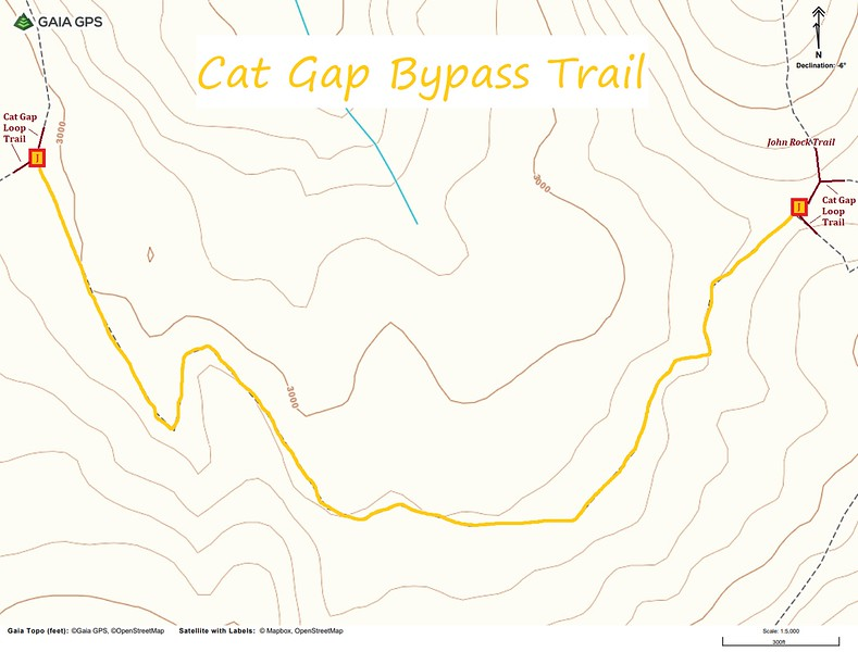 Cat Gap Bypass Trail Map