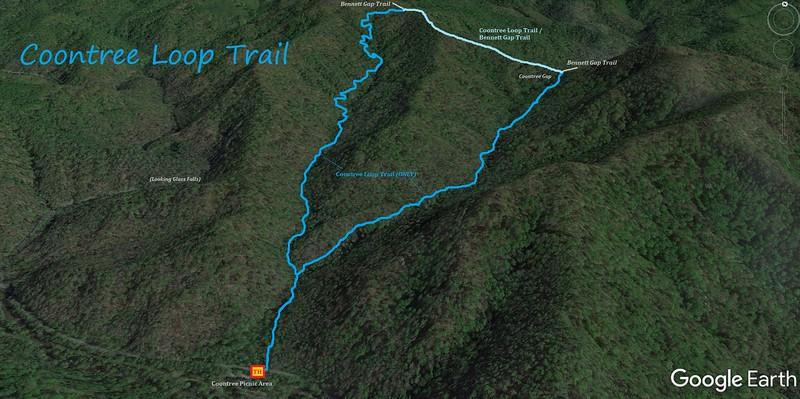 Coontree Loop Trail Map
