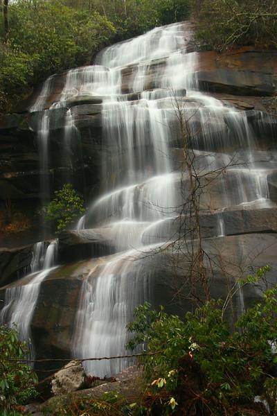 Tom's Spring Falls (aka. Daniel Ridge Falls, Jackson Falls) -- 2,750'