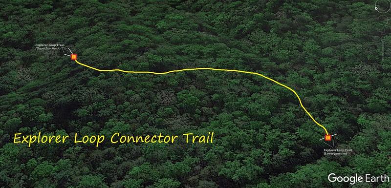 Explorer Loop Connector Trail Map
