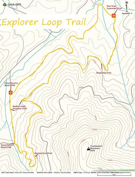 Explorer Loop Trail Map