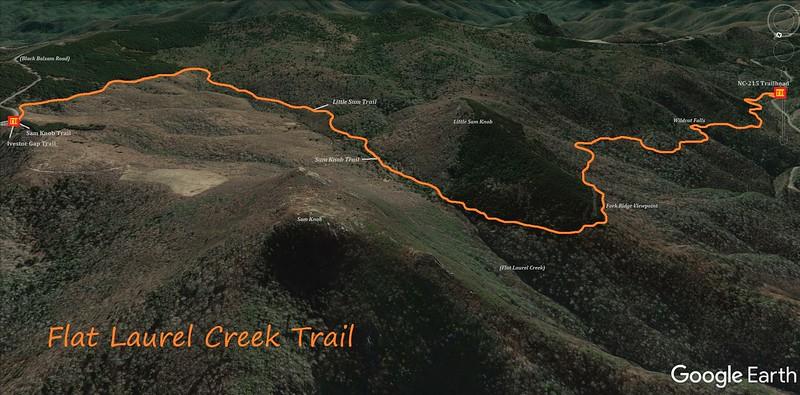 Flat Laurel Creek Trail Map
