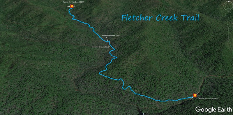 Fletcher Creek Trail Map