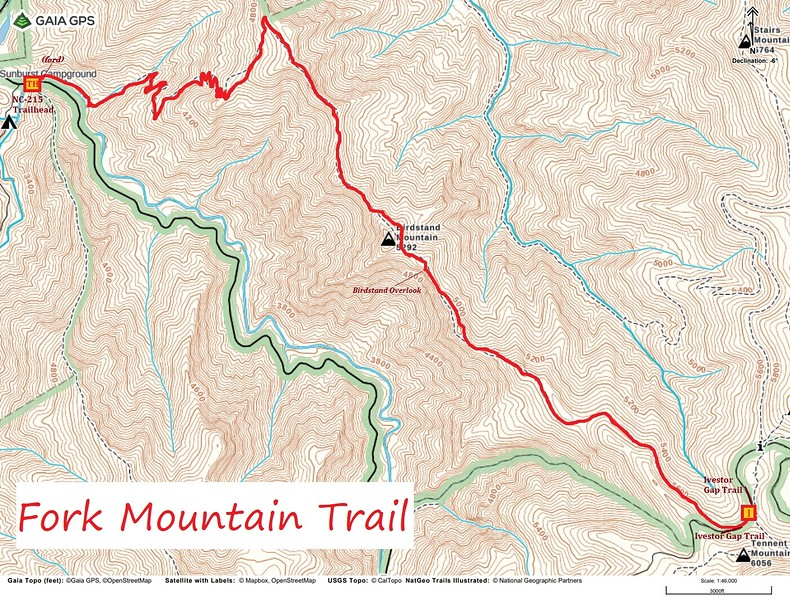 Fork Mountain Trail Map