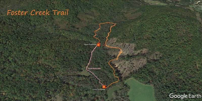 Foster Creek Trail Route Map