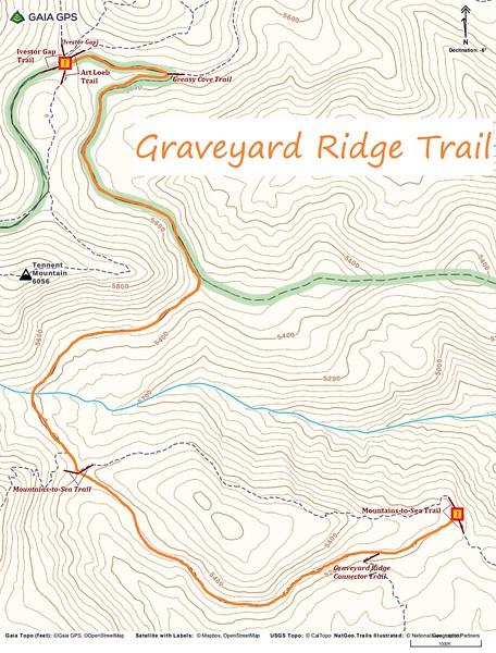 Graveyard Ridge Trail Map