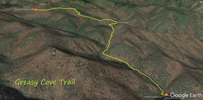 Greasy Cove Trail Map