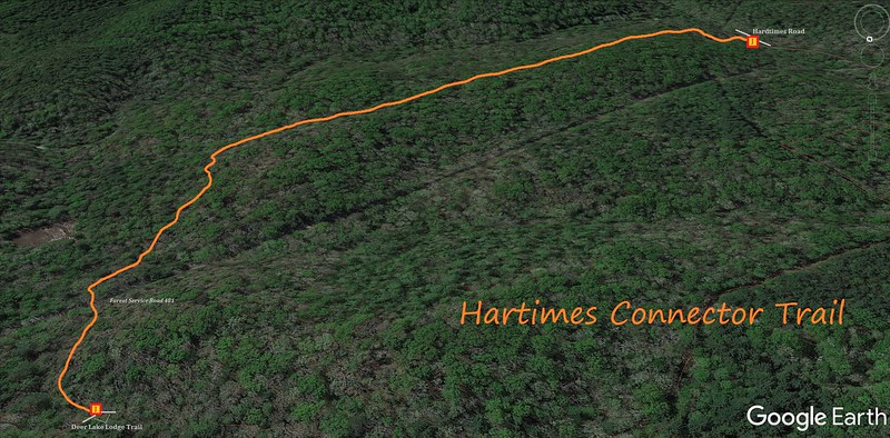 Hardtimes Connector Trail Map