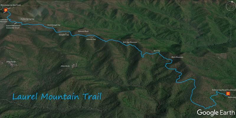 Laurel Mountain Trail Map