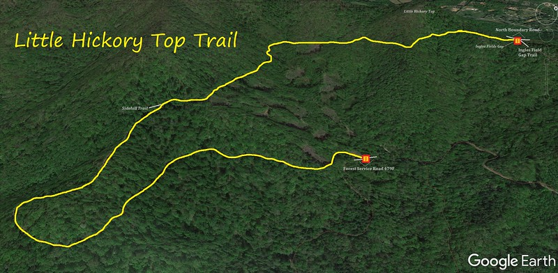 Little Hickory Top Trail Map