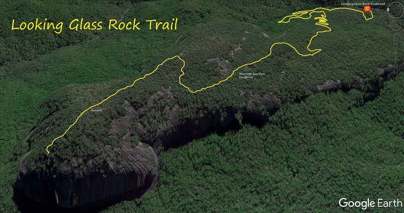 Looking Glass Rock Trail Map