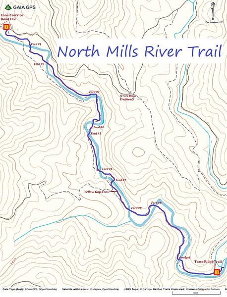 North Mills River Trail Map