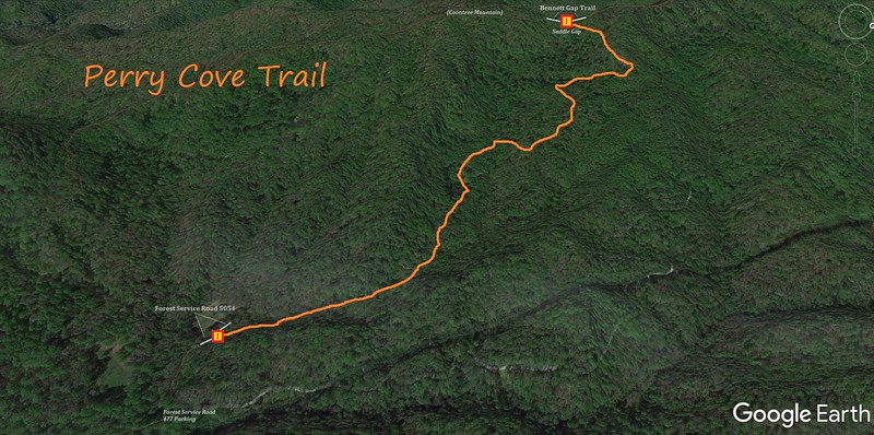 Perry Cove Trail Map