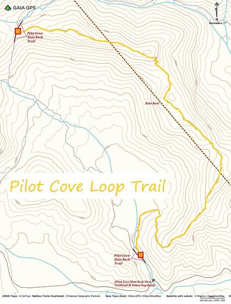 Pilot Cove Loop Trail Map