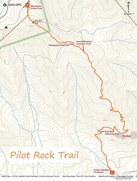 Pilot Rock Trail Map