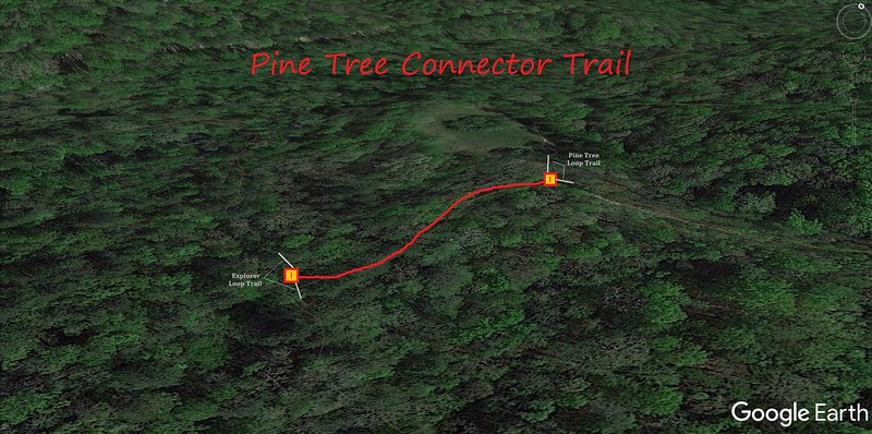 Pine Tree Connector Trail Map