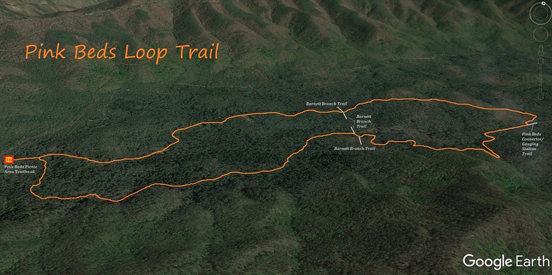 Pink Beds Loop Trail Map