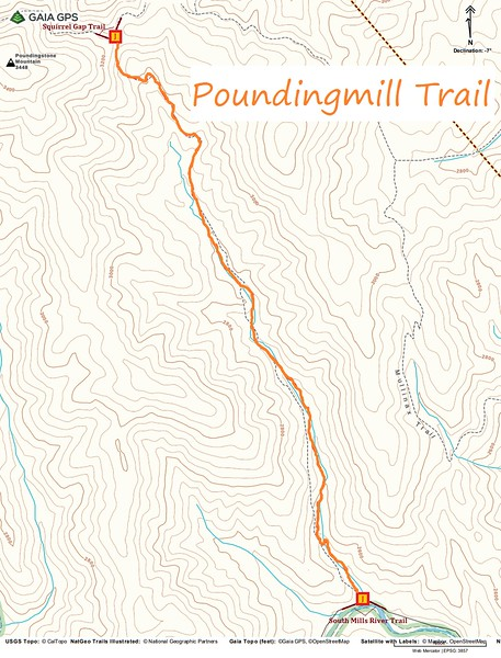 Poundingmill Trail Map