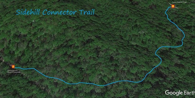 Sidehill Connector Trail Map