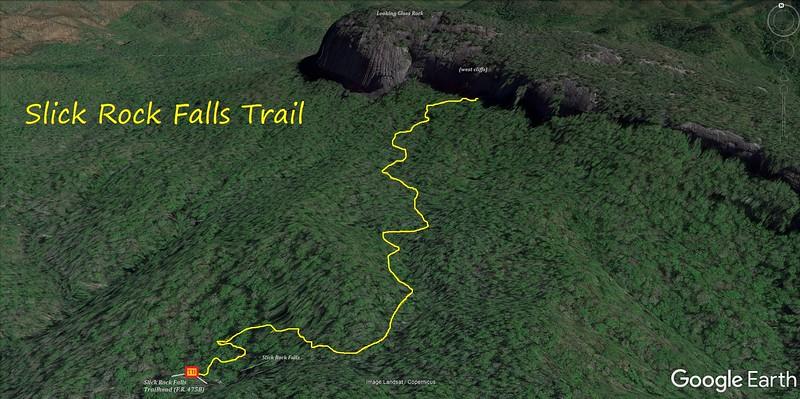 Slick Rock Falls Trail Map