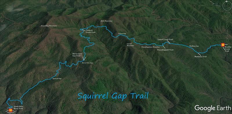 Squirrel Gap Trail Map