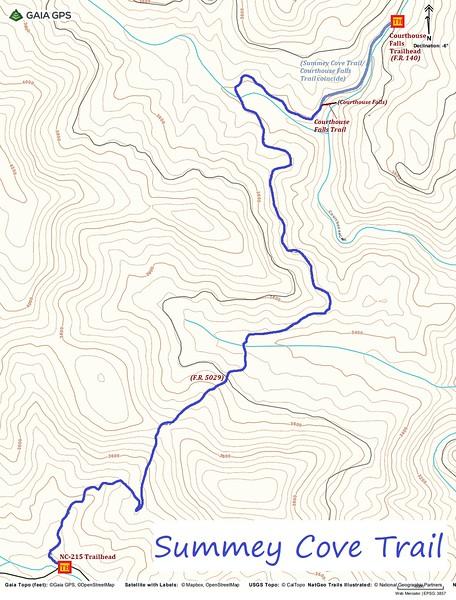 Summey Cove Trail Map