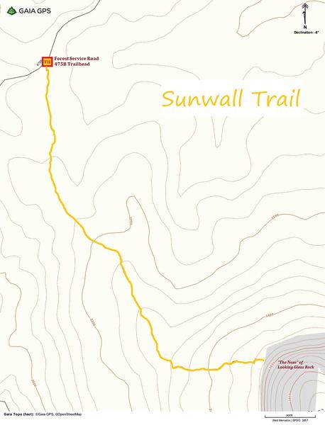 Sunwall Trail Map