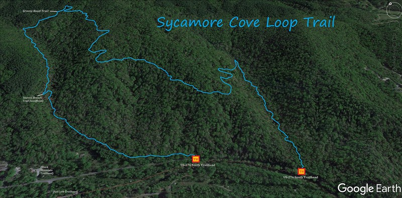 Sycamore Cove Loop Trail Map