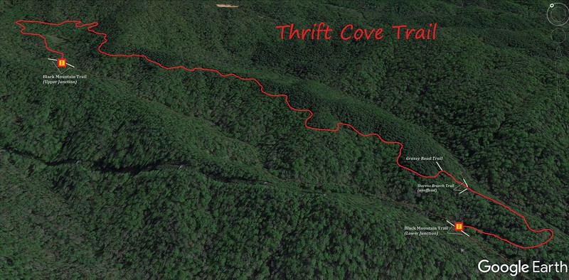 Thrift Cove Trail Map