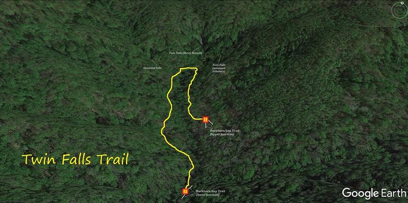 Twin Falls Trail Map