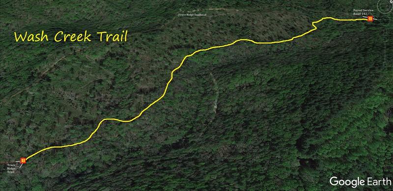 Wash Creek Trail Map