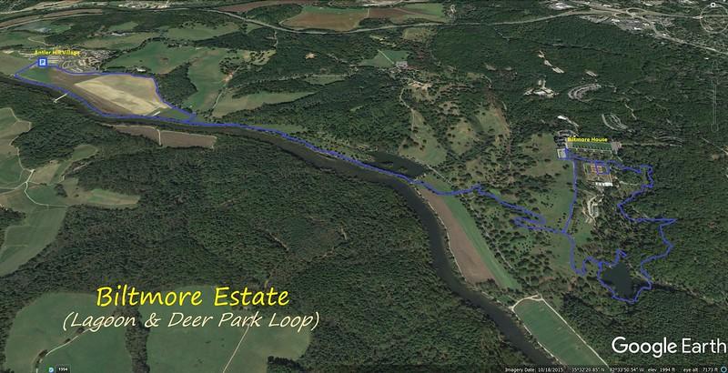Lagoon & Deer Park Loop Route Map