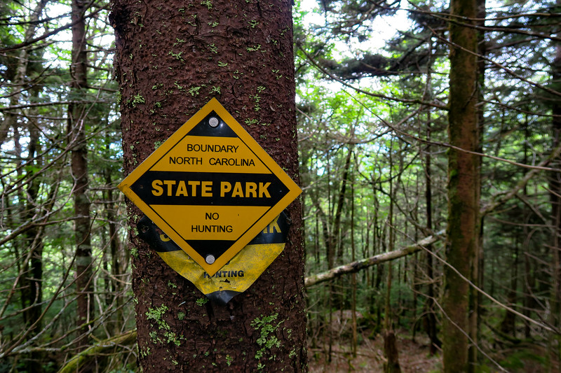 Mount Mitchell State Park Boundary - 6,030'