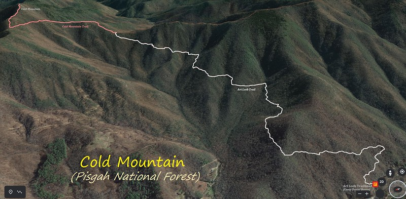 Cold Mountain Hike Route Map