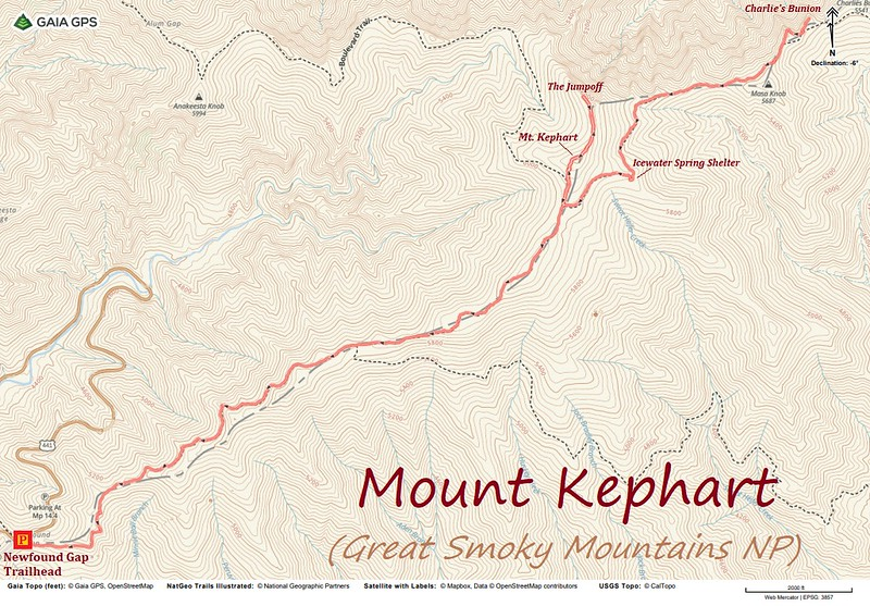 Mount Kephart Hike Route Map