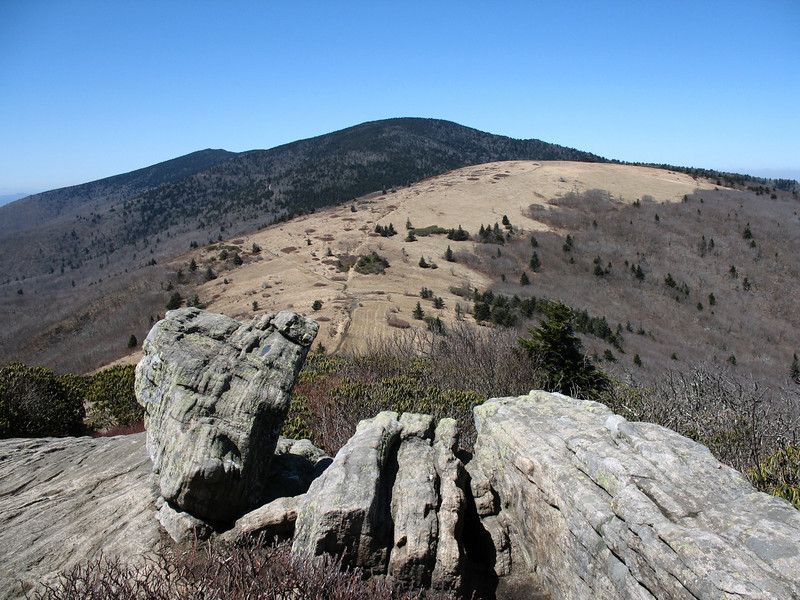 This beautiful view of Grassy Ridge Bald opened up atop Jane Bald.
