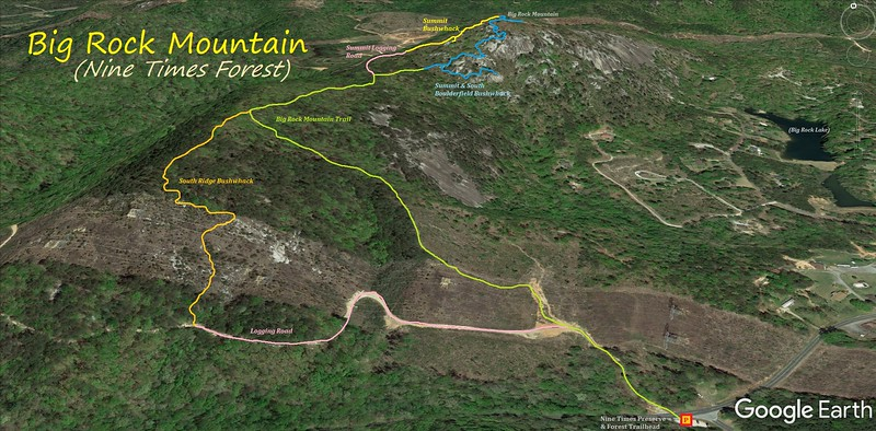 Big Rock Mountain Hike Route Map