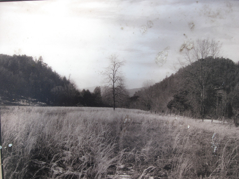 <b><i>Images from before the Lake</b></i> -- One of the many fields once located in the narrow river valley's of Jocassee...