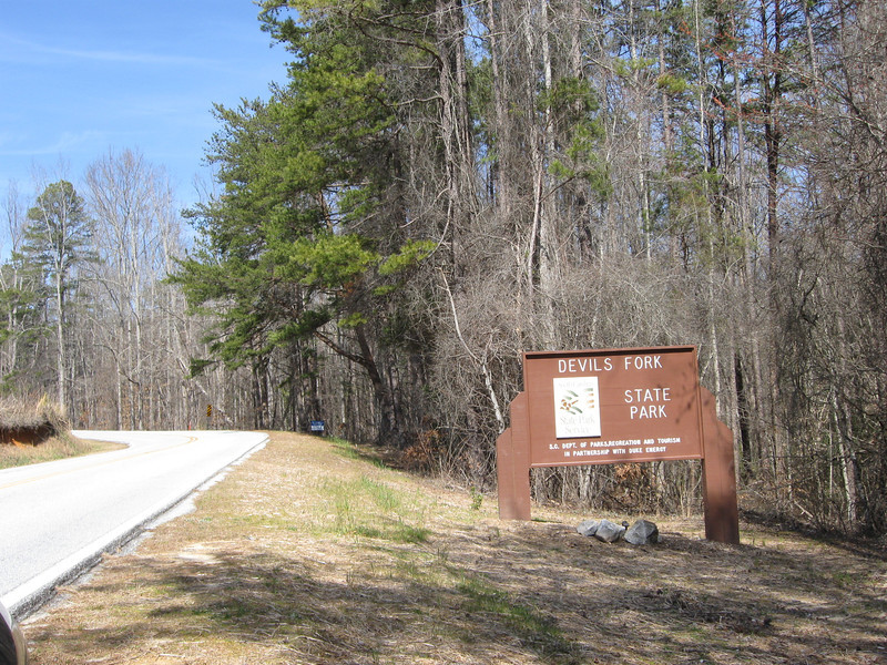 Devils Fork State Park Entrance