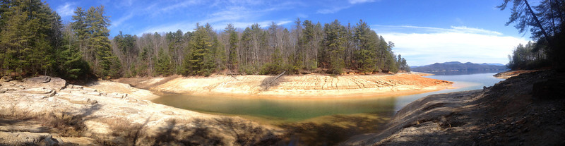 A panorama of the inlet that I followed out to the lake shore...