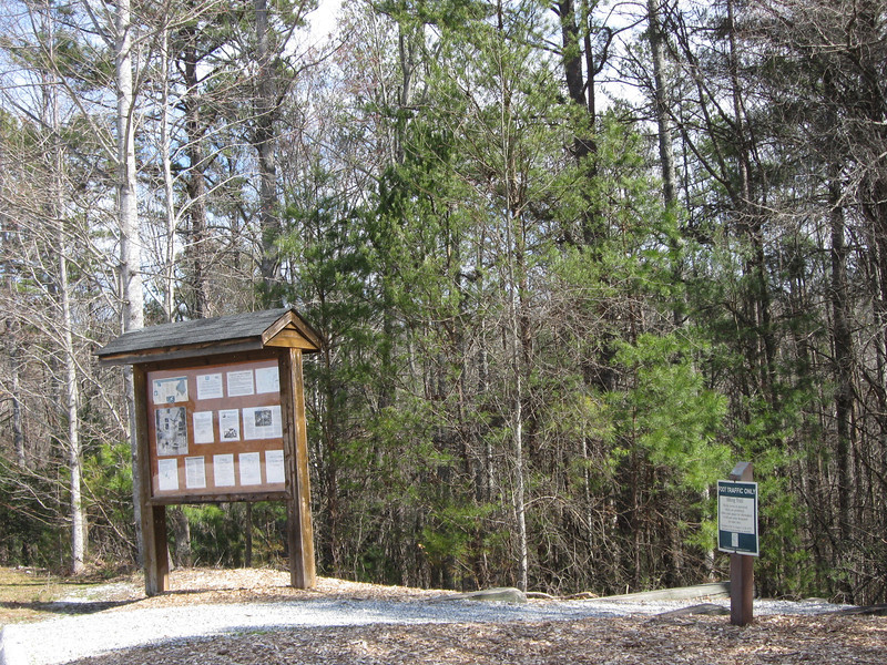 The Oconee Bells Nature Trail Trailhead...