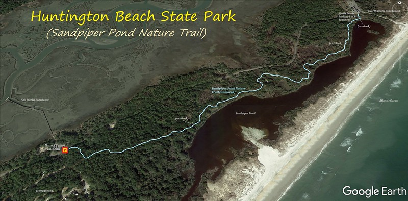 Sandpiper Pond Nature Trail Hike Route Map