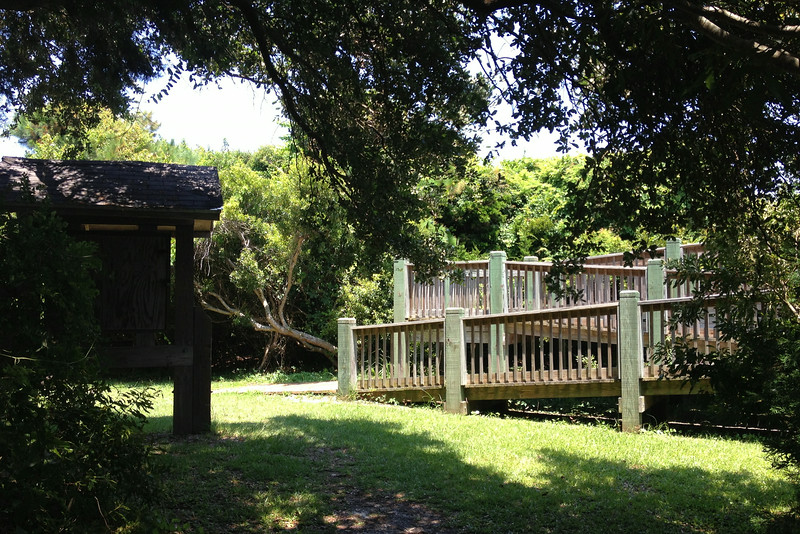 Suddenly this kiosk and walkway appeared through the trees, marking the end of my hike...
