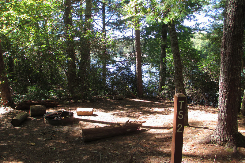 The second of the three lake side campsites just off the Raven Rock Trail...