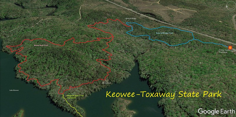 Keowee-Toxaway State Park Hike Route Map